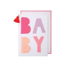 Baby Ροζ Ευχετήρια Κάρτα - ΚΩΔ:159490-JP