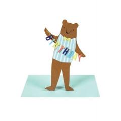 Αρκούδος Κάρτα Γενεθλίων - ΚΩΔ:16-0193H-JP