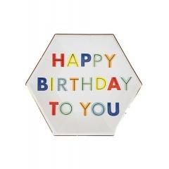 Πιάτο Φαγητού Happy Birthday To You - ΚΩΔ:157123-JP