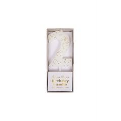 Κεράκι Νο 2 Λευκό - ΚΩΔ:158401-JP