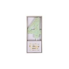 Κεράκι Νο 4 Mint - ΚΩΔ:158419-JP
