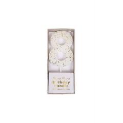 Κεράκι Νο 8 Λευκό - ΚΩΔ:158455-JP