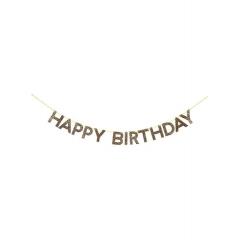 Γιρλάντα Χρυσή Happy Birthday - ΚΩΔ:159913-JP