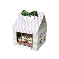 Cupcake box σπιτάκι - ΚΩΔ:45-0218-JP
