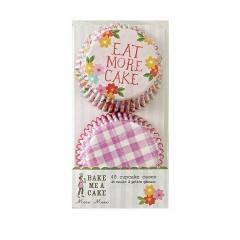 Cupcake cases ροζ και φούξια καρώ - ΚΩΔ:45-0617-JP