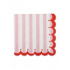 Χαρτοπετσέτες ριγέ ροζ Toot Sweet - ΚΩΔ:113788-JP