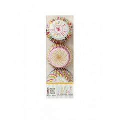 Cupcake cases mini Happy birthday - ΚΩΔ:45-0620-JP