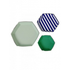 Πιατέλες σετ TS Blue Stripe - ΚΩΔ:45-1305-JP