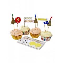Cupcake kit Happy Birthday - ΚΩΔ:45-1341-JP