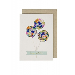 Balloons Confetti Shaker Card - ΚΩΔ:132607-JP