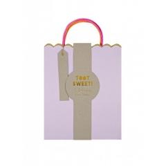Τσάντες μεσαίες δώρου pastel & neon 3τμχ. - ΚΩΔ:132796-JP