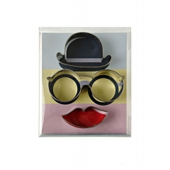 Cookie Cutter Hat Glasses Lips - ΚΩΔ:45-1270-JP
