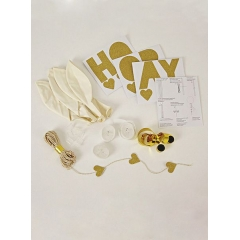 White Balloon Kit (8τεμ) - ΚΩΔ:134425-JP