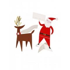 Χριστουγεννιάτικες κάρτες καλεσμένων Santa - ΚΩΔ:45-1909-JP