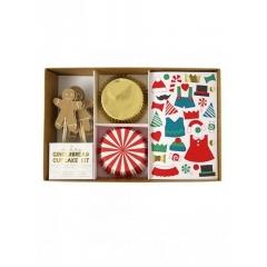 Χριστουγεννιάτικο cupcake kit Gingerbread - ΚΩΔ:45-2006-JP