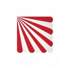 Χαρτοπετσέτα μικρή red stripe 20τμχ - ΚΩΔ:127045-JP