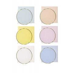 Round Gold Κάρτες & Φάκελοι 12τμχ - ΚΩΔ:14-0065-JP