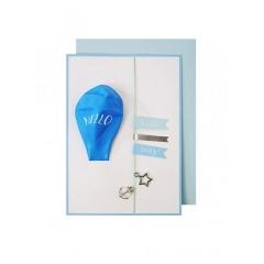 Ευχετήρια Κάρτα Blue Baby Balloon Card - ΚΩΔ:133732-JP