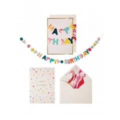 Ευχετήρια Κάρτα Happy Birthday Garland Card - ΚΩΔ:135298-JP