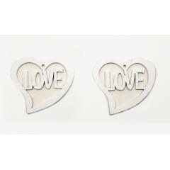 ΞΥΛΙΝΗ ΚΑΡΔΙΑ LOVE ΛΕΥΚΗ 4.5x4.5cm - ΚΩΔ:519573