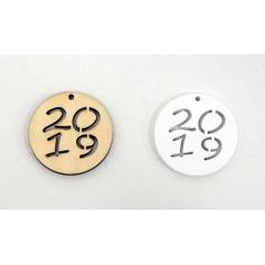 ΓΟΥΡΙΑ 2020 ΞΥΛΙΝΟ ΣΤΡΟΓΓΥΛΟ 2020 4cm - ΚΩΔ:519481