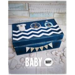 BABY NAVY ΚΟΥΤΙ ΑΝΑΜΝΗΣΕΩΝ ΚΙ ΕΥΧΩΝ - ΚΩΔ:BABY-NAVY-BOX-BM