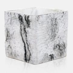 Κασπώ Κεραμικό Κύβος Luxury Wood Λευκό 12x12x12Υ - ΚΩΔ: 450212-DS