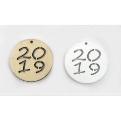 ΓΟΥΡΙΑ 2020 ΞΥΛΙΝΟ ΣΤΡΟΓΓΥΛΟ 2020 6cm - ΚΩΔ:519482