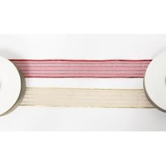 ΚΟΡΔΕΛΑ ΟΡΓΑΝΤΖΑ ΜΕ ΡΙΓΕΣ 2.5cm x 20Υ KY-05-06 - ΚΩΔ:501288
