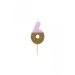Κεράκι γενεθλίων για τούρτα Νο 6 We ♥ Birthdays - ΚΩΔ:BDAY-CANDLE-6-JP