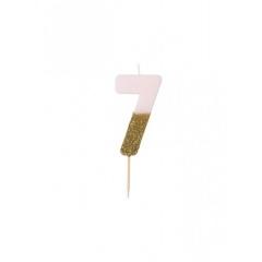 Κεράκι γενεθλίων για τούρτα Νο 7 We ♥ Birthdays - ΚΩΔ:BDAY-CANDLE-7-JP