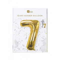 Μπαλόνι χρυσό foil αριθμός 7 - ΚΩΔ:BDAY-BALL-7-JP