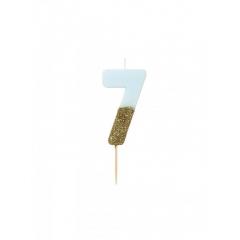 Κεράκι γενεθλίων Νο 7  We ♥ Birthdays Boy - ΚΩΔ:BDAY-CANDLE-BLUE-7-JP