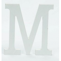ΞΥΛΙΝΟ ΜΟΝΟΓΡΑΜΜΑ ''Μ'' ΛΕΥΚΟ MDF 10CM-ΚΩΔ:62399-MAK