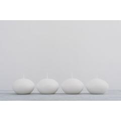 ΚΕΡΙΑ ΣΤΡΟΓΓΥΛΑ ΛΕΥΚΑ 3.5cm - ΚΩΔ: A17628-WHITE-RA