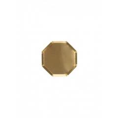 Χάρτινο Πιάτο Mini Οκτάγωνο Χρυσό - ΚΩΔ:184555-JP