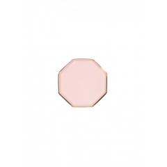 Πιάτο Mini Οκτάγωνο Ροζ με Χρυσή Λεπτομέρεια - ΚΩΔ:184627-JP
