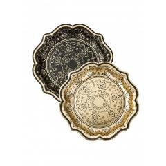 Χάρτινα πιάτα μεγάλα Porcelain Baroque - ΚΩΔ:PPBQ-PLATE-MED-JP