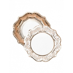 Χάρτινα Πιάτα Μεγάλα Party Porcelain Rose Gold - ΚΩΔ:PPRG-PLATE-M-JP
