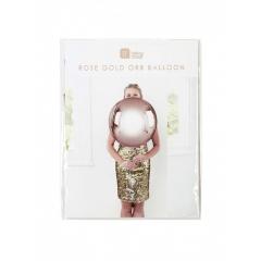 Μπαλόνι Μεταλλικό Ροζ Χρυσό - ΚΩΔ:MET-BALL-ORB-RG-JP