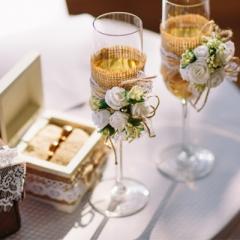 Ποτήρια Γάμου Στολισμένα