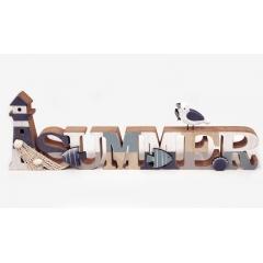 ΞΥΛΙΝΟ ΔΙΑΚΟΣΜΗΤΙΚΟ SUMMER HAG-550043 48x15cm - ΚΩΔ:621199