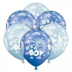 ΜΠΛΕ-ΓΑΛΑΖΙΑ ΜΠΑΛΟΝΙΑ «It's a boy» 12'' (30cm) – ΚΩΔ.:1300161-BB