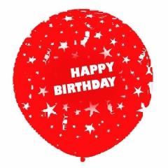 ΚΟΚΚΙΝΑ ΜΠΑΛΟΝΙΑ LATEX 90cm «Happy Birthday» – ΚΩΔ.:13030100-BB