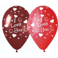 ΜΠΑΛΟΝΙΑ ΤΥΠΩΜΕΝΑ «I love you» ΜΕ ΚΑΡΔΙΕΣ ΠΟΥ ΣΤΡΟΒΙΛΙΖΟΥΝ 12'' (30cm) – ΚΩΔ.:13512352-BB