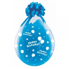 ΤΥΠΩΜΕΝΑ ΜΠΑΛΟΝΙΑ LATEX ΔΙΑΦΑΝΑ ΓΥΑΛΑΣ «Happy Birthday» 18΄΄ (45cm)  – ΚΩΔ.:13518390hb-BB