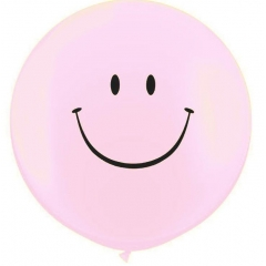 BUBBLE GUM ΡΟΖ ΜΠΑΛΟΝΙΑ LATEX 90cm SMILE FACE – ΚΩΔ.:13530101B-BB
