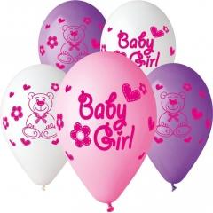 ΜΠΑΛΟΝΙΑ «Baby Girl» ΜΕ ΑΡΚΟΥΔΑΚΙΑ ΣΕ 3 ΧΡΩΜΑΤΑ 13'' (33cm) – ΚΩΔ.:13613208-BB
