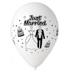 ΤΥΠΩΜΕΝΟ JUST MARRIED ΜΠΑΛΟΝΙ LATEX 13΄΄ (33cm)  – ΚΩΔ.:13613221-BB