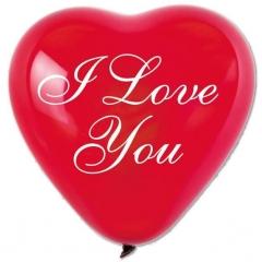 ΚΟΚΚΙΝΑ ΜΠΑΛΟΝΙΑ ΤΥΠΩΜΕΝΑ ΚΑΡΔΙΕΣ ΜΕ ΡΟΜΑΝΤΙΚΟ «I love you» 17'' (43cm) – ΚΩΔ.:1361745-BB